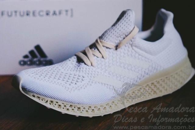 Adidas produz primeiro tenis feito com redes de pesca em impressora 3D 4