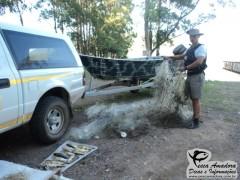 Material recolhido pela policia ambiental (Foto Divulgação: Policia Ambiental)