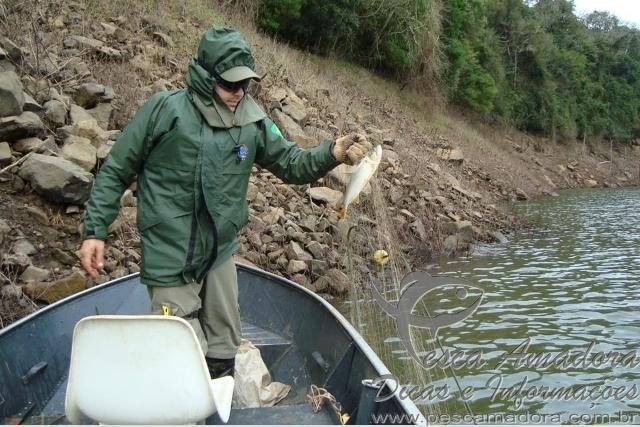 Apreensoa na usina hidreletrca da represa da Foz no Parana