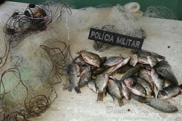 BPMA apreende redes e pescado ilegal no lago Paranoa-DF