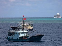 Barco Chines nas Ilhas Spratly