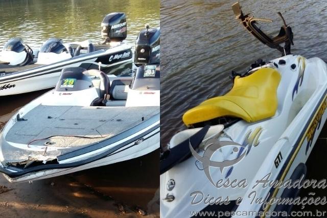 Barco e jet ski colidem em Cacu-GO jovem que pilotava o jet morreu na hora