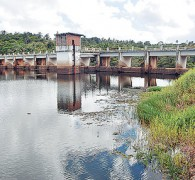 Barragem de Lauro de Freitas onde é feita a coleta de água que abasteçe Salvador-BA
