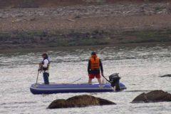 Buscas por jovens que cairam em vertedoudo na Usina Hidreletrica Chapeco-SC 2