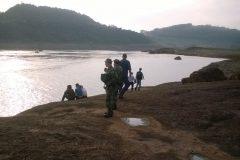 Buscas por jovens que cairam em vertedoudo na Usina Hidreletrica Chapeco-SC