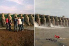 Buscas por jovens que cairam em vertedoudo na Usina Hidreletrica Chapeco-SC 4
