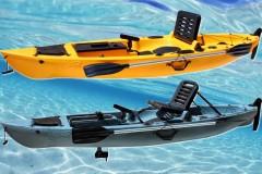 Caiaker produz primeiro caiaque para pesca esportiva com pedal