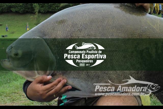 Campeonato Paulista de Pesca Esportiva em Pesqueiro 2017 Capa