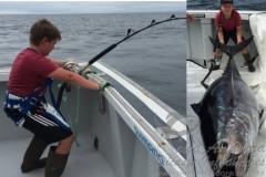 Canadense de 10 anos fisga atum de 220kg