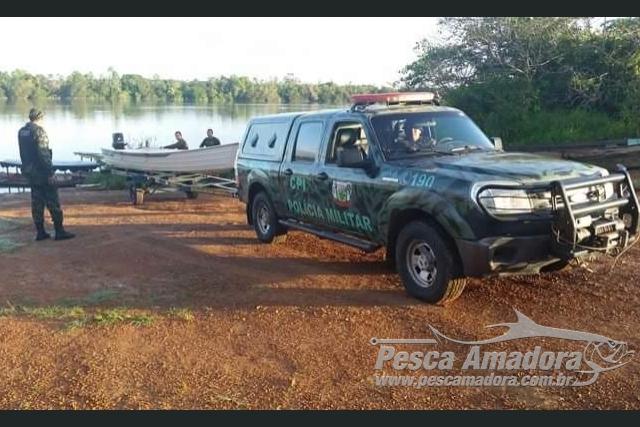 Cipa e Femarh realizam operacao de combate a pesca ilegal em Roraima