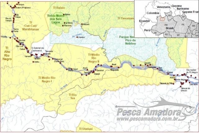 Circuito de turismo em Santa Izabel do Rio Negro (AM) sera gerido por indigenas Mapa