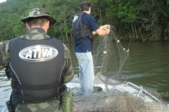 Com o inicio da piracema PMA realiza apreensoes em Santa Catarina