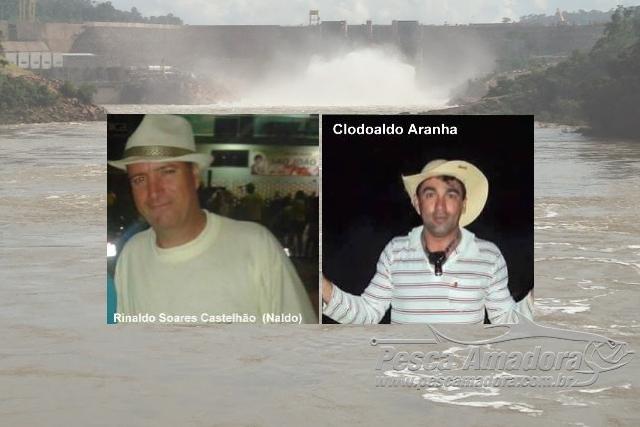 Dois pescadores morrem afogados no Teles Pires proximo a usina hidreletrica em MT