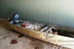 Dupla e flagrada com 150kg de peixe em Hidreletrica em Rondonia 2