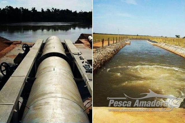 Fazenda constroi canal para desviar agua causando danos ao Rio Araguaia em Goias 2
