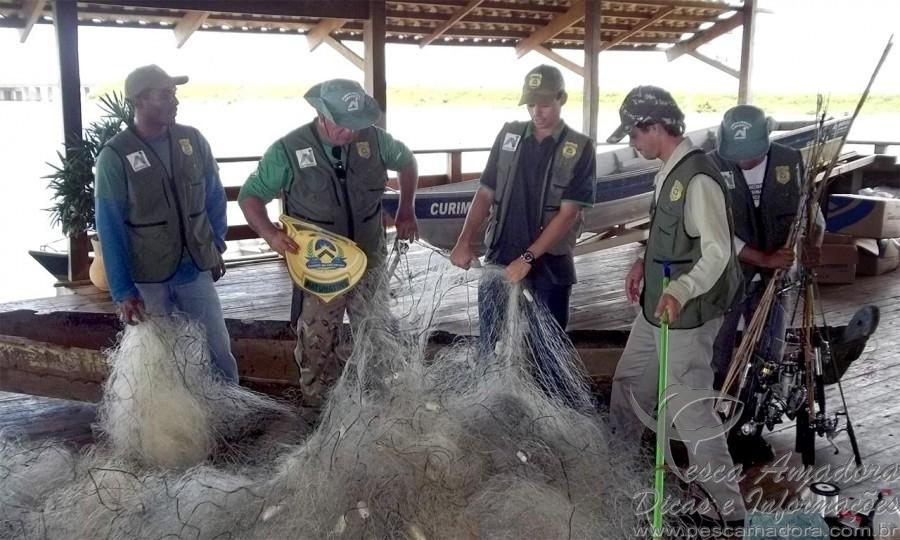 Fiscais na Naturantins apreendem mais de 8km de redes durante piracema