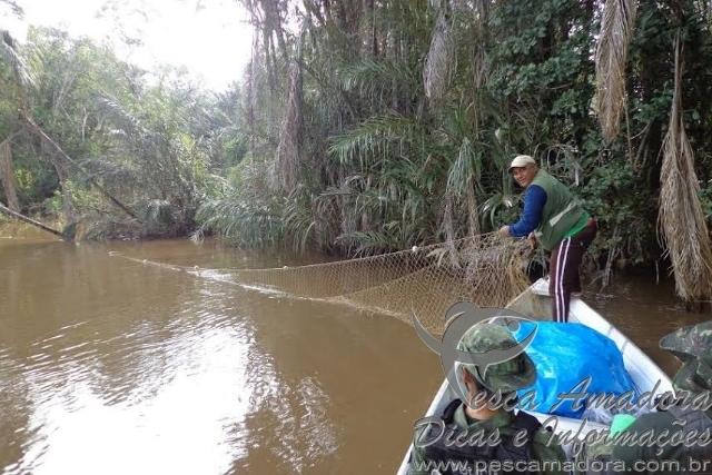 Fiscalizacao apreende 35 malhadores durante a piracema em Roraima