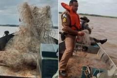 Forca Verde apreende 3.500 m de redes durante fiscalizacao no PR 2