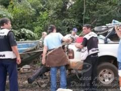 Grupo detido por suspeita de pesca predatoria em Uberlandia-MG