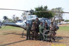Helicoptero e usado em operacao contra crimes ambientais no Pantanal