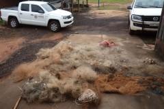 IAP apreende 1.500m de redes e 500m de espinheis nos rios Ivai e Parana