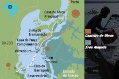 Ibama nega licenca para construcao de hidreletrica no rio Tapajos - mapa