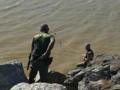 Ibama recolhe rede de rio fiscalizado em SC