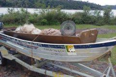 Icmbio apreende 300 metros de redes durante fiscalizacao no Parque do Iguacu-PR
