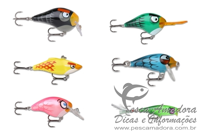 Iscas rapala angry birds