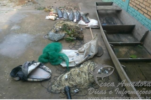 JUVAM apreende redes e pescado ilegal no Rio Paraguai-MT