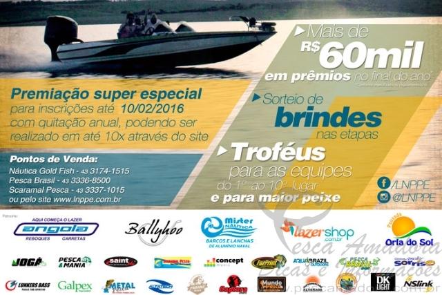 LNPPE realiza torneio de pesca no Norte do Parana a partir de Fevereiro 2
