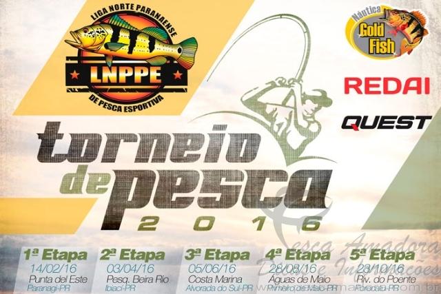 LNPPE realiza torneio de pesca no Norte do Parana a partir de Fevereiro