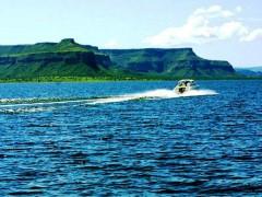 Lago do da usina do Rio Manso-MT (Foto: Divulgação Internet)