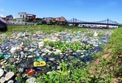 Lixo acumulado em Igarapes em Manaus-AM