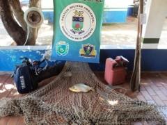 Material apreendido no Rio Taquari no MS