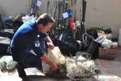 Material de pesca apreendido em Caxias do Sul-RS