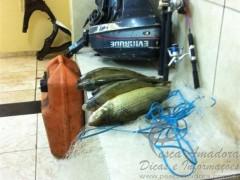 Material e pescado apreendido no Parana