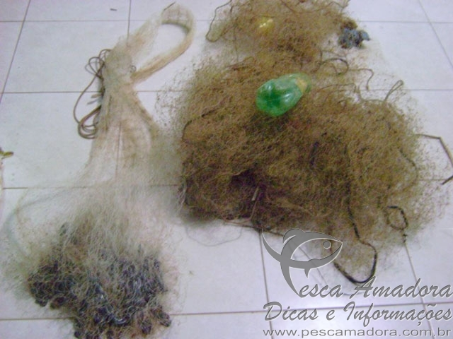 Material ilegal de pesca apreendido em Adamantina-SP