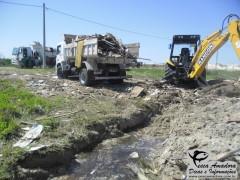Material ilegal sendo descartado no litoral norte do Rio Grande do Sul (Foto Divulgação: PATRAM-RS)