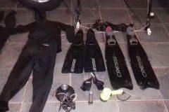 Mergulhadores sao flagrados praticando pesca ilegal no Rio Parana em SP