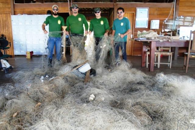 Naturantins apreende redes utilizadas na pesca predatoria em Tocantins