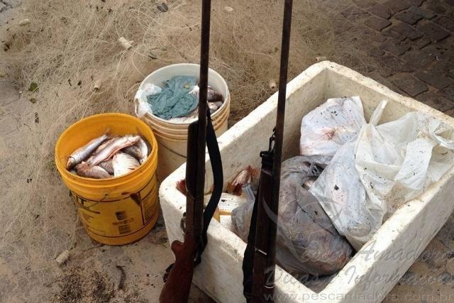 Operacao conjunta apreende redes pescado e armas no oeste da Bahia 2