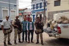 Operacao conjunta apreende redes pescado e armas no oeste da Bahia