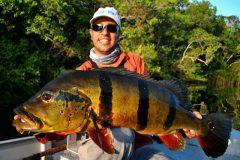 Ornamento da pesca esportiva do tucunare no Amazonas 2