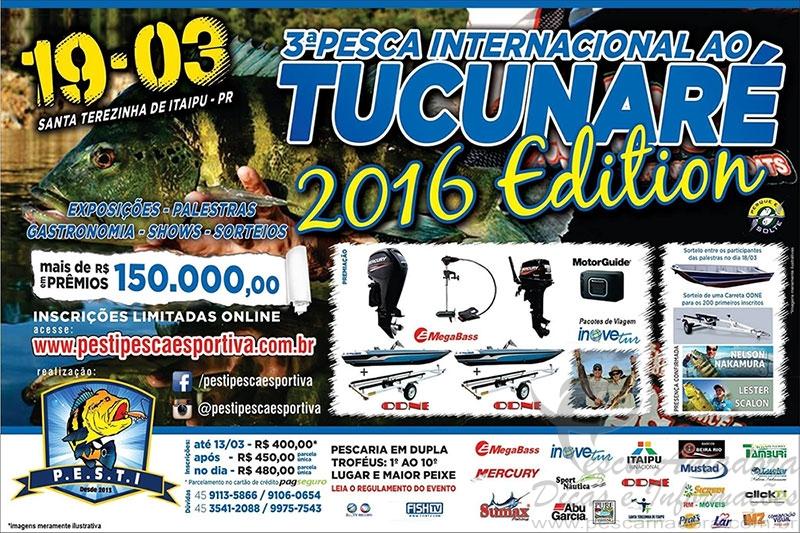 PESTI realiza o 3 Torneio de Pesca Internacional ao Tucunare no PR Folder