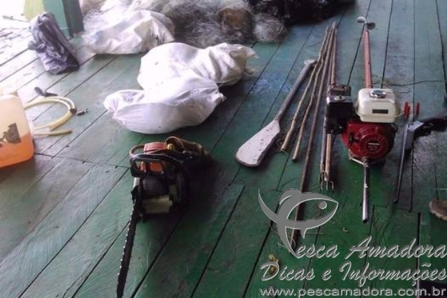 PM apreende redes e armas de fogo em reserva no Amazonas 4