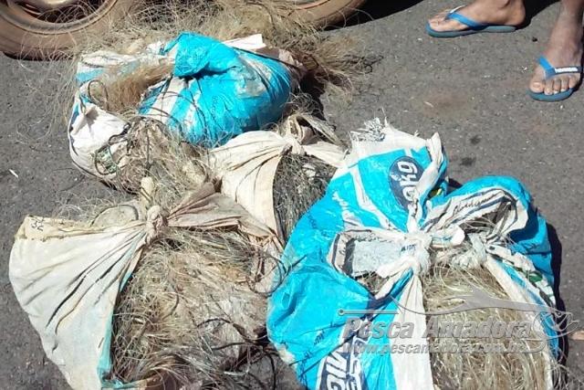 PMA apreende 1 km de redes e 28 kg de pescado ilegal em MS