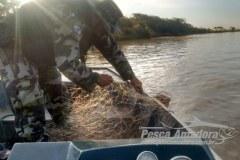 PMA apreende 1.200 metros de redes na represa Capivara no Parana