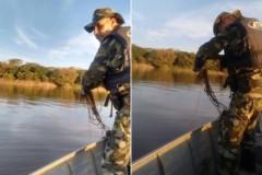 PMA apreende 1.200 metros de redes na represa Capivara no Parana 4