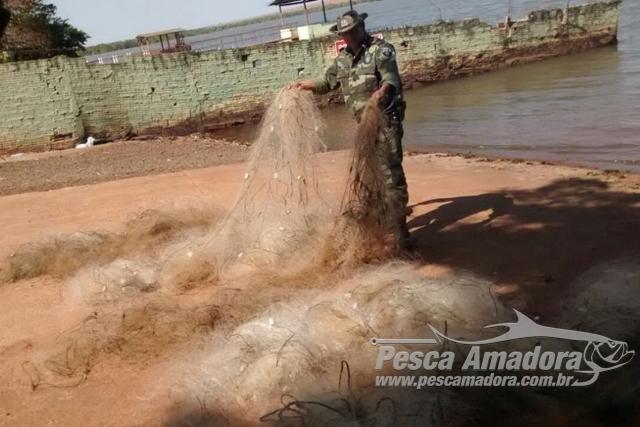 PMA apreende 1.400 m de redes durante fiscalizacao no Parana 4